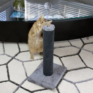"20"" Carpet Scratching Post - Charcoal -1 Pack"