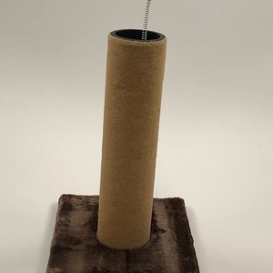 "Clearance ($5.00) - Two 15"" Dura Carpet Scratching Post (Brown Base & Pom Pom's with Tan Dura Carpet Scratching Post) (2 Pack)"
