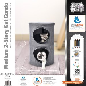 Medium 2 Story Cat Condo (Grey)