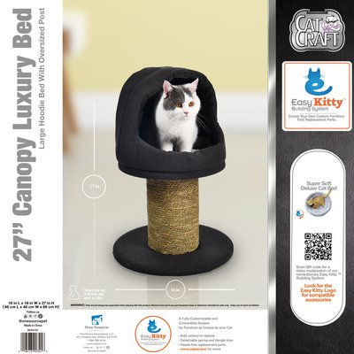 "27"" Canopy Luxury Scratching Post and Bed"