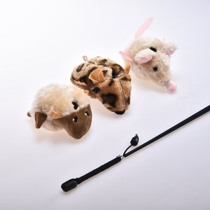 EK QC Wand Toy Set with Nine Plush Toys (9 Total + 3 Wands)