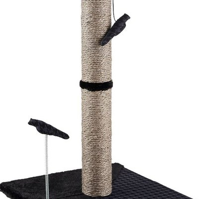 "26"" Max and Marlow Tall Sisal Scratching Post - Grey Sisal - 1 Pack"