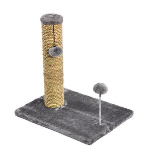 "20"" Sea Grass Scratching Post with Spring Toy  - 1 Pack"
