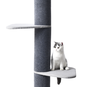 Luxury Three Tier Floor To Ceiling Cat Tree With 8 Inch